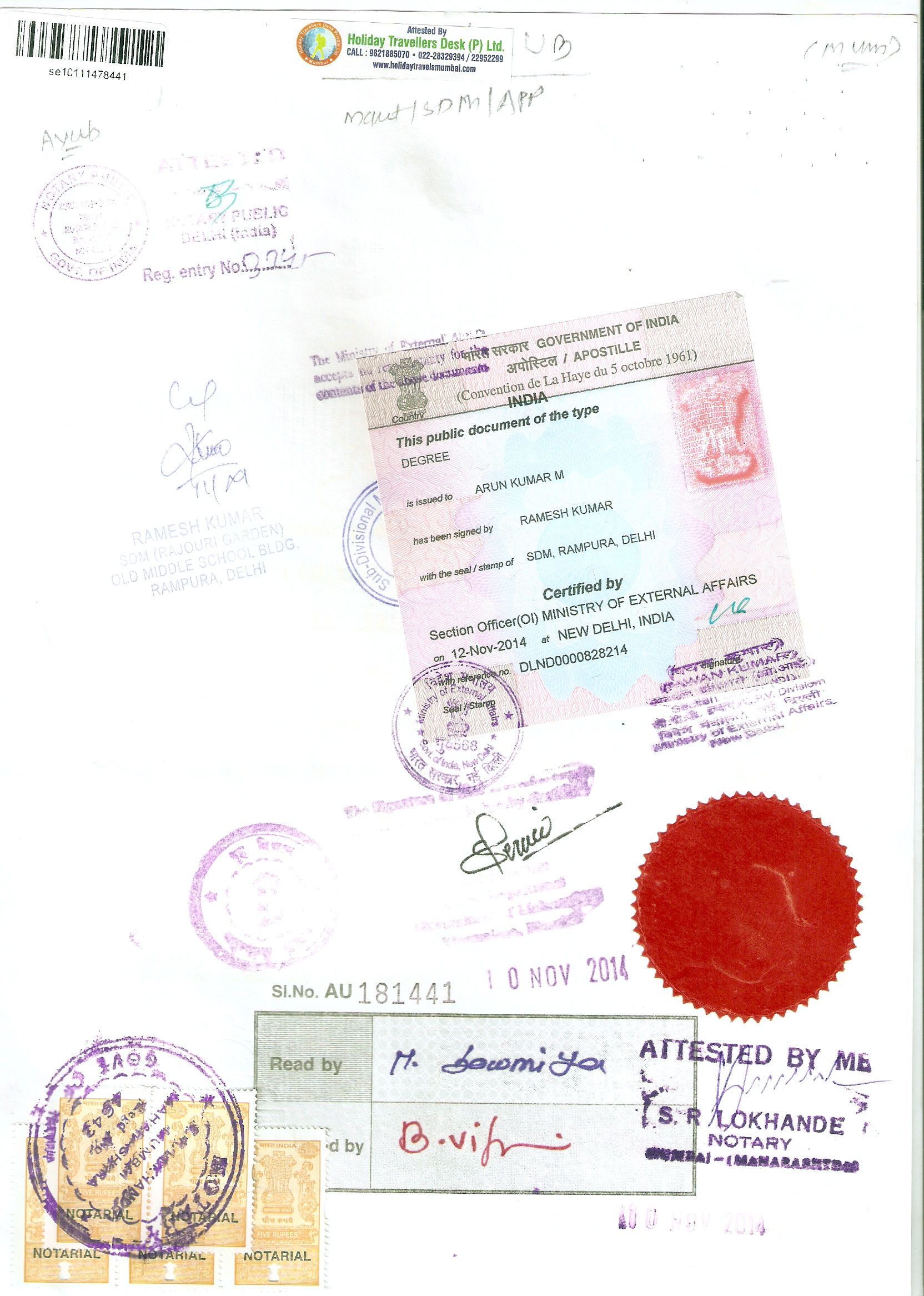 Holiday travellers desk pvt ltd marriagebirthleaving degree apostille xflitez Images