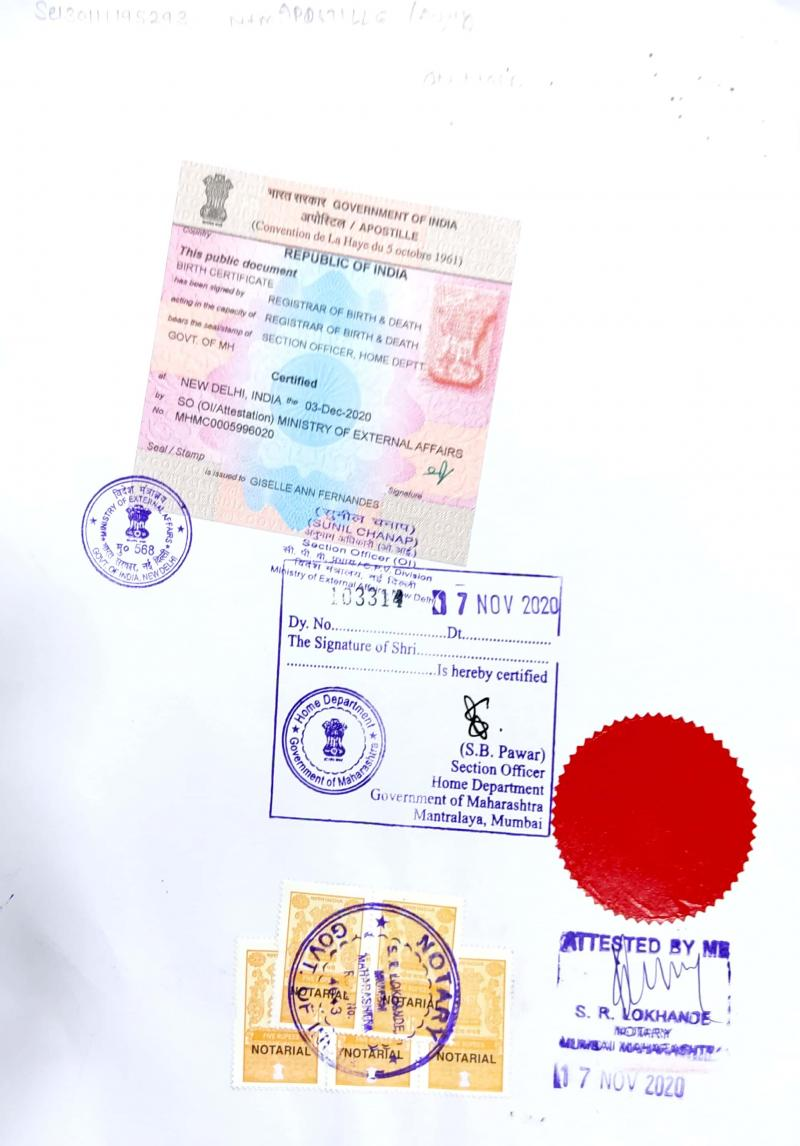 Marriage Certificate apostille image